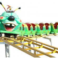 好玩有趣的青虫滑车童星游乐中小型儿童游乐设备