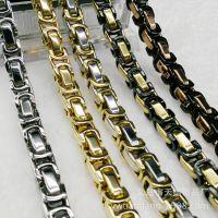 经典款男士嘻哈手工单片节链钛钢不锈钢饰品项链热卖现货8mm