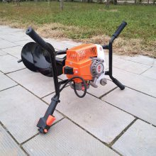 多功能汽油手提挖坑机 新款植树挖坑机厂家 养殖场围栏打桩打坑机