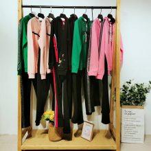 广州 品牌折扣女装2020春季青春活力艳色针织【玻莉娜】运动女装套装走份进货渠道