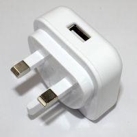 英规三角转换插头 白色手机USB充电器插头 手机通用直充充电器头