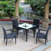 藤椅户外仿藤桌椅组合阳台藤编椅子茶几五件套装休闲恰谈桌椅餐桌