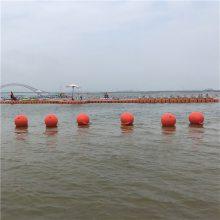 批发新款一体成型海洋浮球 浴场安全隔离带浮漂