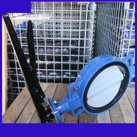 WD71XN-10C手柄尼龙板铸钢体脱硫对夹蝶阀脱硫脱销系统专用垂直板式NBST品牌