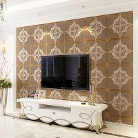 3D鹿皮绒欧式软包无纺布墙纸现代简约客厅卧室电视背景墙壁纸立体