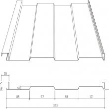 南通市彩钢板板厂家S-373型墙面内嵌板规格齐全