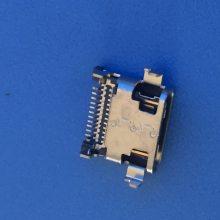 typec12P沉板1.3母座 脚距11.75前插后贴 SMT 双排沉板贴片两脚固定