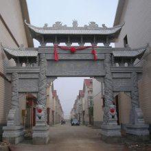 景区经典石牌坊样式图片 石雕牌楼厂家批发价出售
