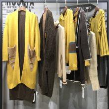 品牌女装货源 【银钻】山羊绒牦牛绒大衣货源批发品牌专柜女装尾货