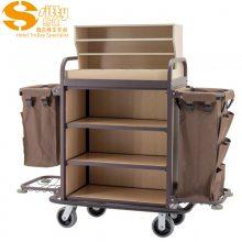 专业生产SITTY斯迪99.9803FGO金属木结构拆装式客房服务车/房口车/房间清洁车