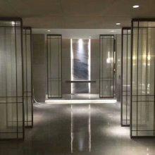 夹丝艺术玻璃隔断屏风山水景观玻璃5+5 6+6钢化夹胶夹娟工艺防爆