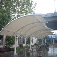 膜结构汽车停车棚户外张拉景观体育看台小区自行电动车充电桩雨棚上门安装