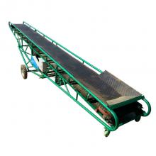碎石渣装卸车皮带机 15米长爬坡型传送带 混凝土带式输送机qk