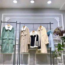 专柜女装颗粒绒大衣的特点冬装尾货批发市场三荟尾货