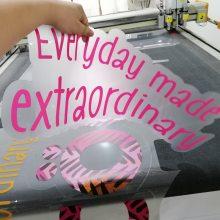 异形贴纸批发超透玻璃贴磨砂贴画面UV彩白彩打印厂家直销