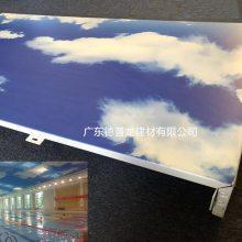 蓝天白云铝扣板【3D打印彩绘铝单板】3D逼真效果【具有艺术气质】