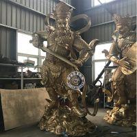 温州铜佛像厂家铸造寺院纯铜3.8米四大天王佛像价格