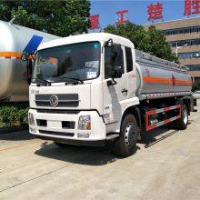 重庆流动加油车厂家,12吨14吨15吨油罐车价格,东风天锦加油车
