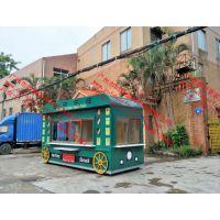 游乐园卡通造型个性餐饮售卖亭,方特乐园餐饮商品零售花车,售货车