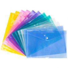 源头工厂A4塑料PP文件袋 透明A5按扣袋 广告文件夹 保单袋定做