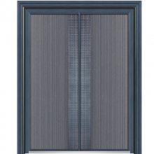 银川牧匠铸铝门不锈钢防盗门进户门入户门对开门玻璃铜门彷铜门