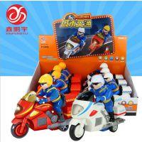 鑫鹏宇 儿童动手动脑惯性动力玩具车 声光音乐摩托车警车批发