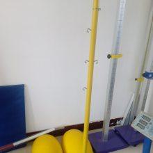 室外移动ABS羽毛球柱、带网 学校比赛用羽毛球柱