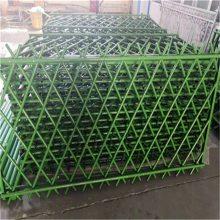 景区绿地竹节管护栏 金属仿竹护栏 停车场高档隔离栏