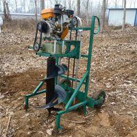 手提钻坑机型号 单人螺旋植树地钻机 手推挖坑机批发1