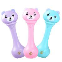 婴儿摇铃音乐棒 0-1岁灯光音乐早教发光手摇铃 宝宝沙锤乐器玩具