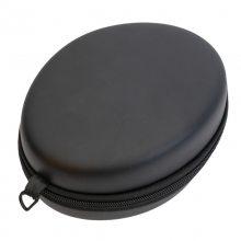 EVA耳机收纳包 圆形收纳包 pu拉链耳机包装盒