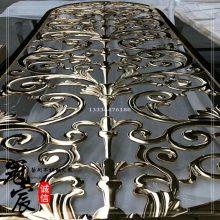 铜玻璃护栏 别墅楼梯栏杆扶手 欧式铜雕花楼梯护栏 豪华楼梯栏杆