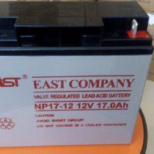 易事特蓄电池12V17AH NP17-12 现货供应 UPS专用免维护铅酸蓄电池