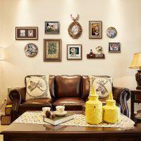 美式客厅组合欧式玄关挂画装饰画沙发背景墙画创意餐厅壁画发财鹿