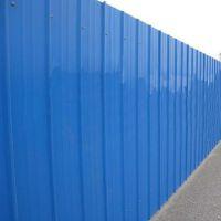 单层彩钢板隔离围蔽 经典款建筑施工安全围栏 蓝色铁皮简易围挡