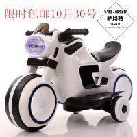 厂家直销萨玛特儿童太空车电动摩托车充电双驱动宝马摩托车可坐