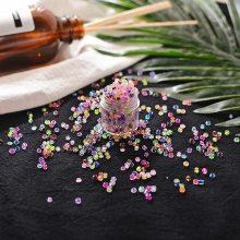 厂家直销手缝串珠diy3MM染芯珠手工制作材料项链手链配件