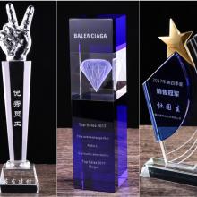 辽宁发型设计比赛奖杯 水晶纪念品订制