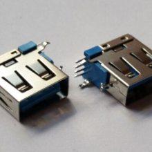USB 母座 AF侧插短体 A母侧立式 USB端子 插座 座子 连接器厂家