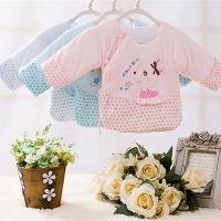婴幼儿保暖半背衣 纯棉宝宝半背上衣和尚服 系带满月宝宝棉衣