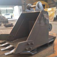 挖机打夯斗 一机多用可挖掘可振动夯实 斜面夯实器挖斗 振动打夯斗