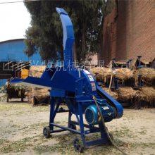 养殖牛羊青贮铡草机 自动进料铡草粉碎机 低喷秸秆揉丝机