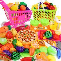 仿真蔬菜水果切切看小孩过家家儿童切水果玩具男孩菜篮子切切乐