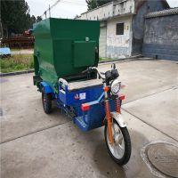 直接撒到喂料槽内的三轮喂料机 一人完成操作的电动撒料车 中泰机械