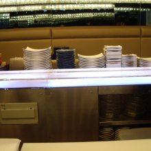 彩色回转自助餐厅送餐设备 广州昱洋品牌厂家直销