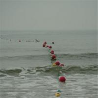 海域沙滩专用双耳大范围拦截隔离式塑料实心易安装浮筒