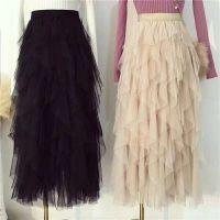 女装韩版新款潮不规则网纱蓬蓬裙半身裙百搭纱裙仙女裙一件代发