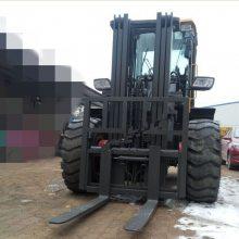 装载机改装叉车档货架 4吨越野叉车全液压操作视频
