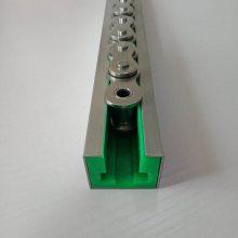 上海直销 T型单排08B链条导轨 高耐磨超高分子量聚乙烯滑轨精加工