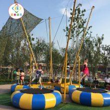 河北迁安赶庙会四人钢架蹦床,儿童蹦极跳跳床新上市的优质选择